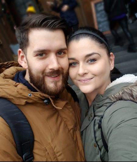Jasmin mit ihrem Freund Mirko