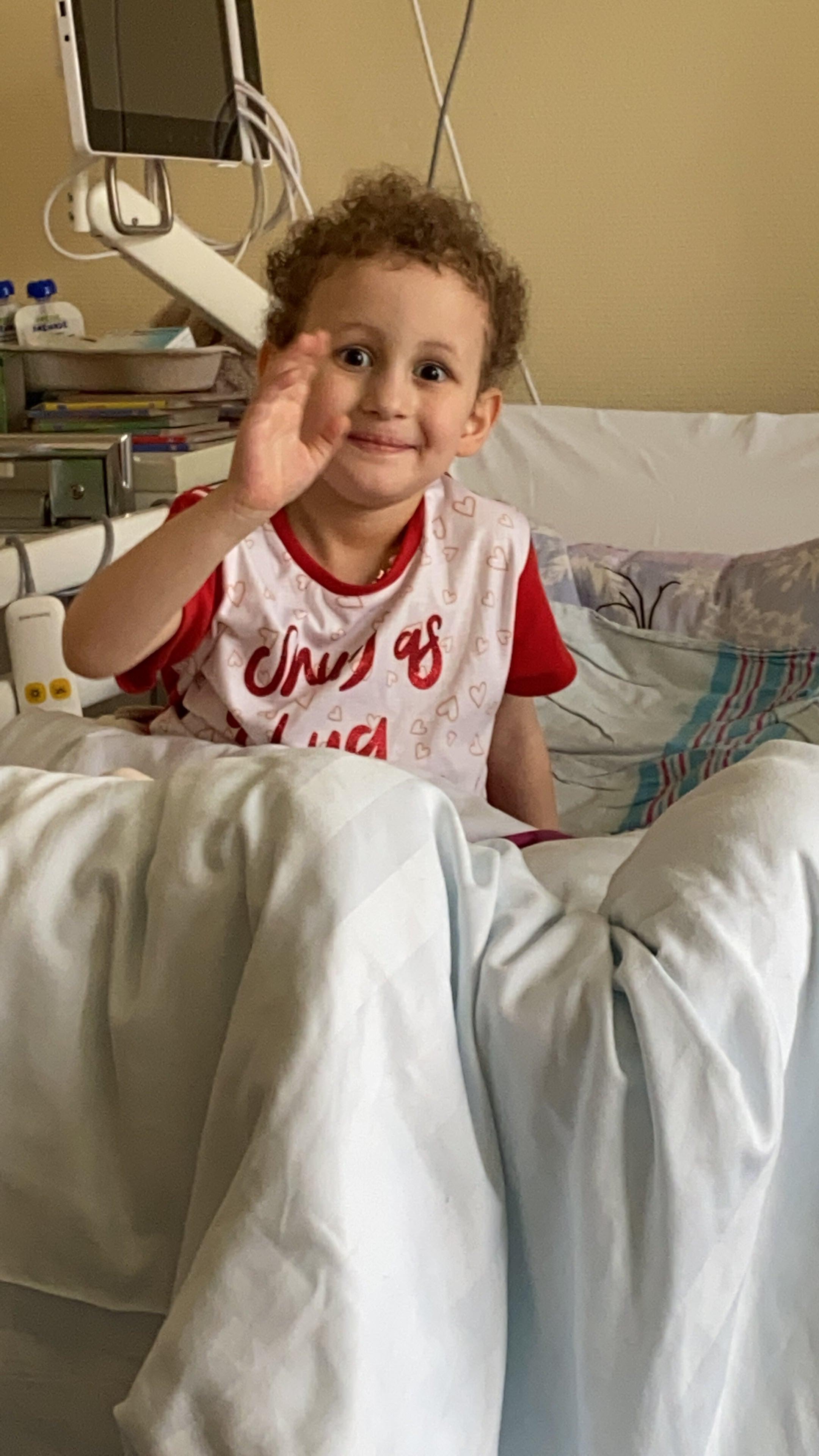 Clara während der Chemotherapie