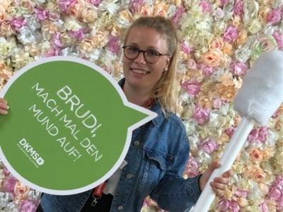 Amelie ist DKMS Volunteer und Stammzellspenderin
