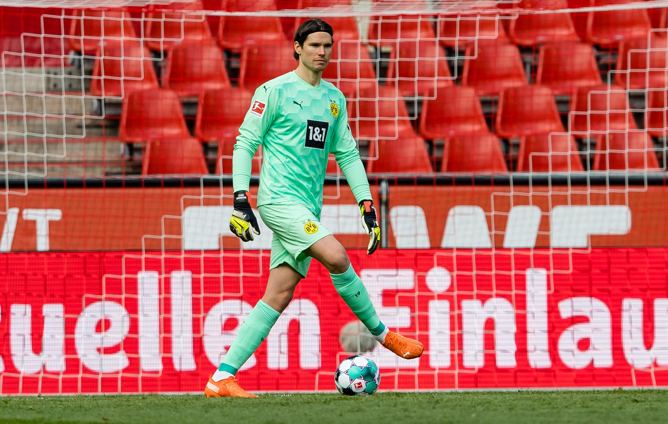 Marwin Hitz im Tor des BVB; Foto: Borussia Dortmund