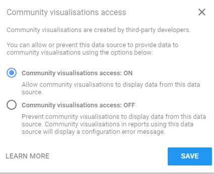 example on how to enable community visualisation
