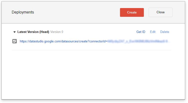 data studio deployment url