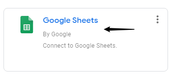 Example image on how to link google sheet to data studio