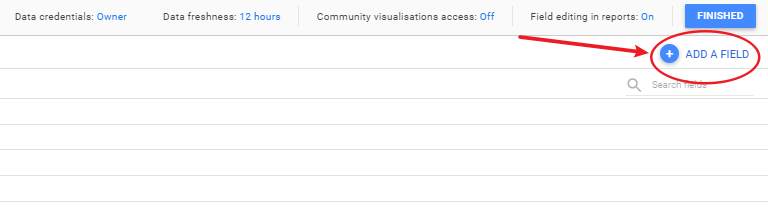 Screengrab showing how to create a custom field in your data source