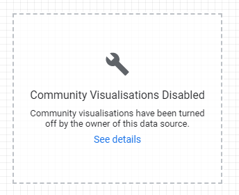 Image warning that visualisation is turned off