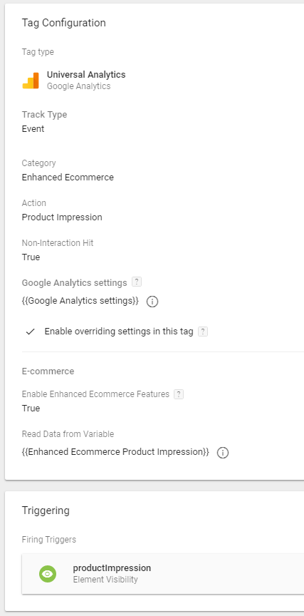 gtm tag manage ecommerce datalayer
