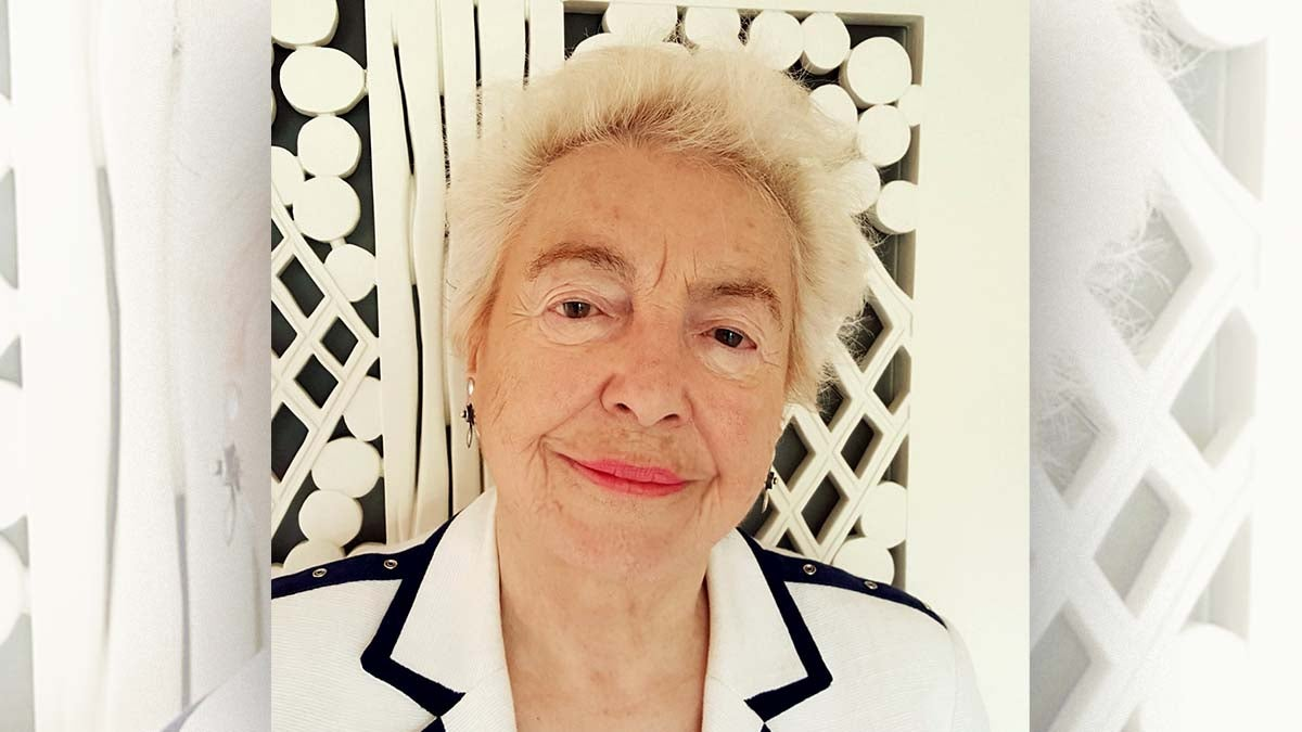 A profile shot of Dame Stephanie Shirley smiling.