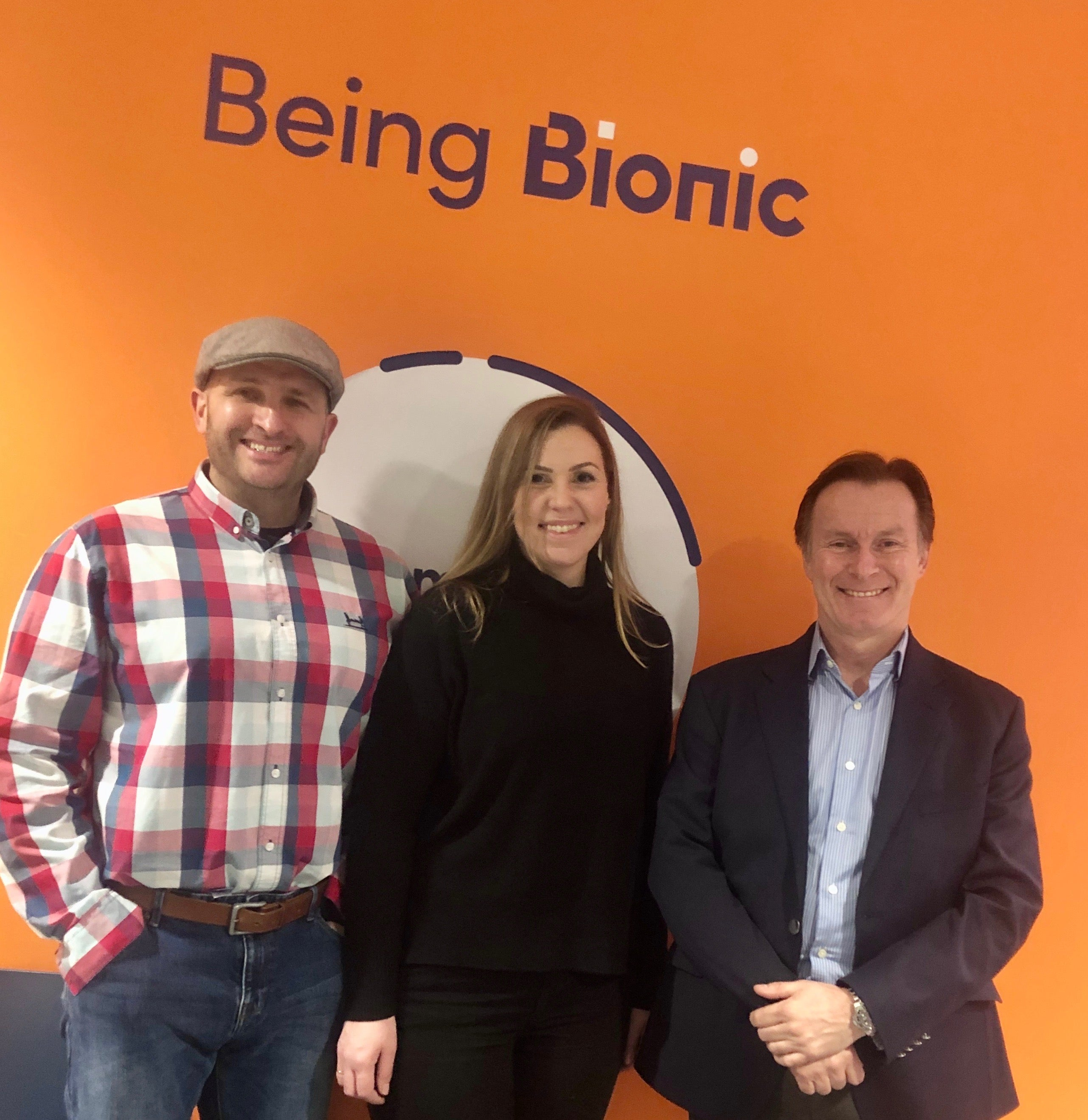 Mark and members of the Flat Cap Coffee Roasting Co. in the Bionic offices