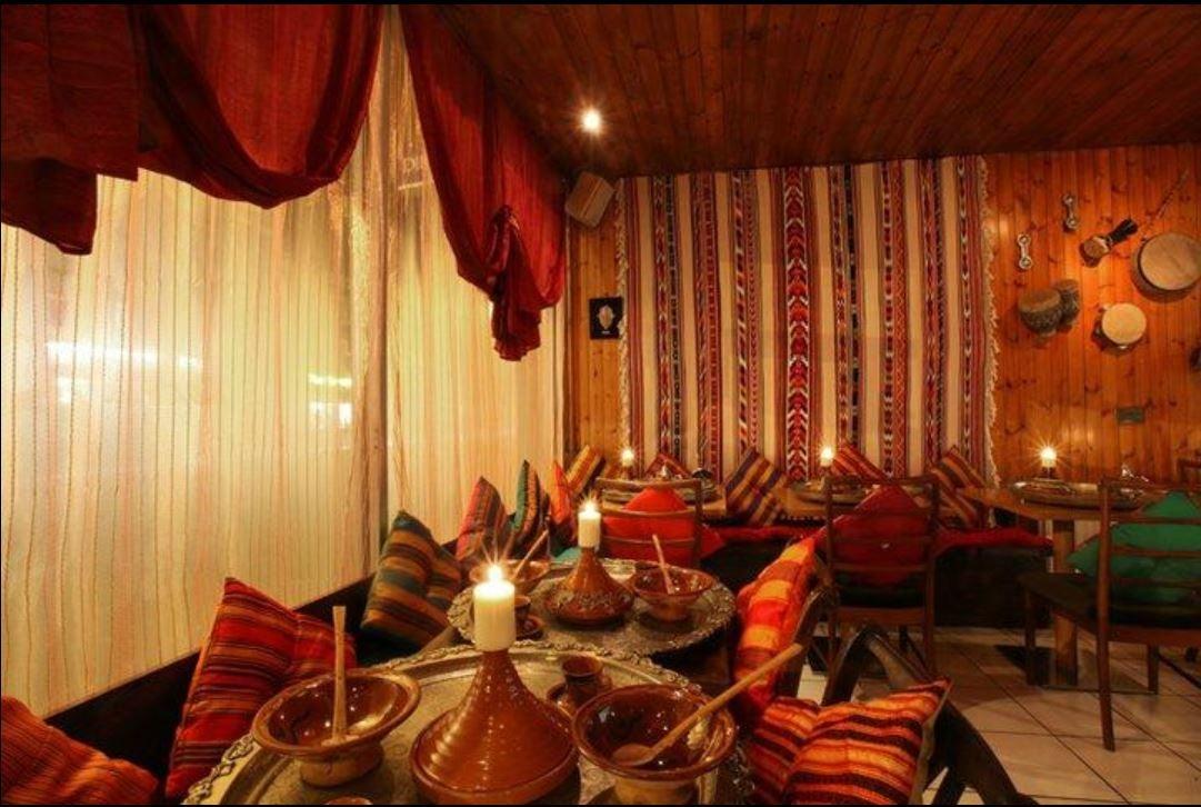 Interior of Khamsa Cafe