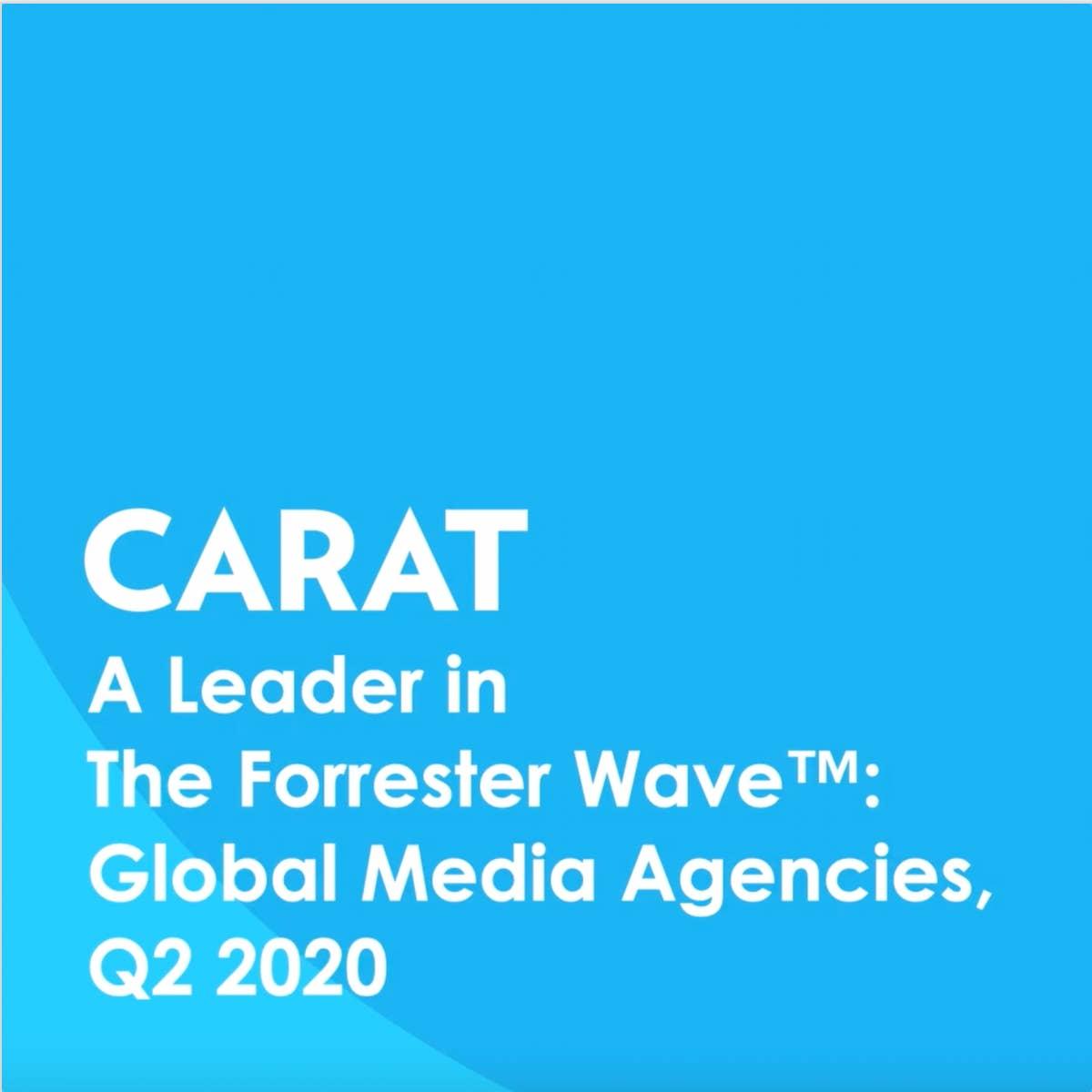 Carat uitgeroepen tot leider onder wereldwijde mediabureaus