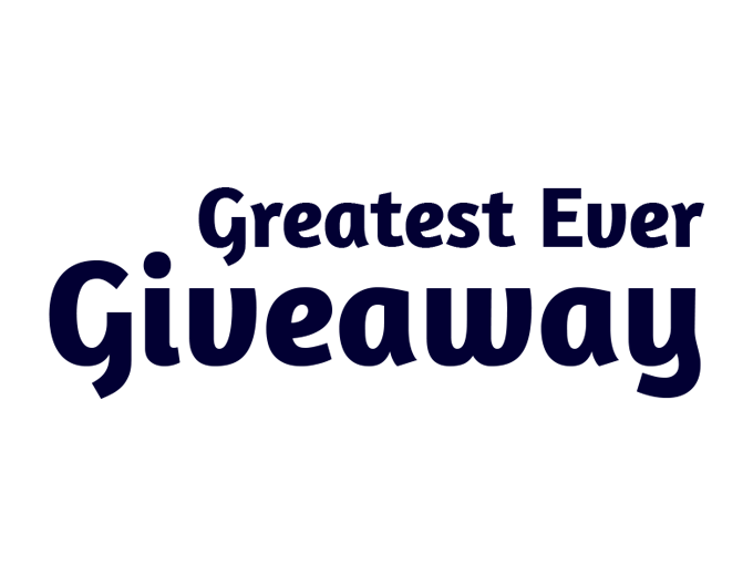 Our greatest ever giveaway