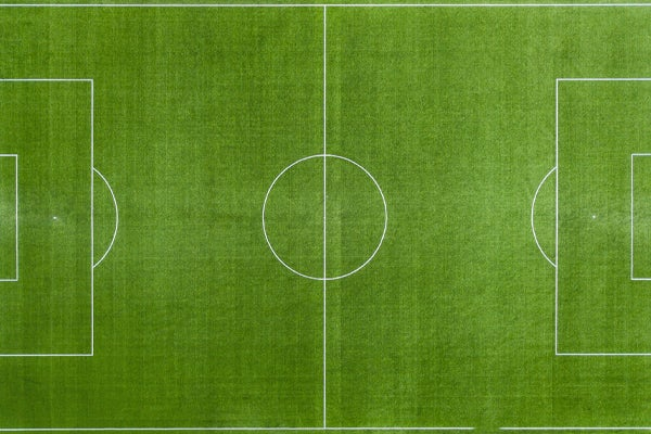 Football pitch from above