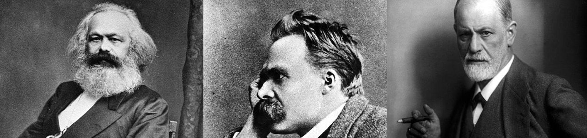 Marx, Nietzsche and Freud Banner