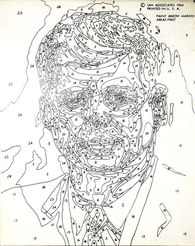 Paint by numbers of JFK
