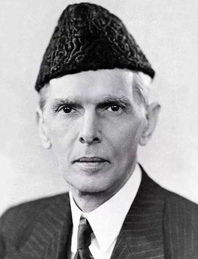A photograph of Muhammad Ali Jinnah