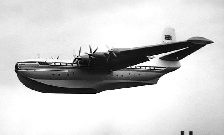 The Saunders-Roe Princess flying boat at Farnborough air show, 1953