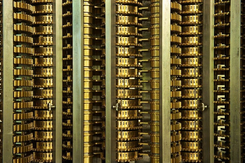A detail of the Difference Engine