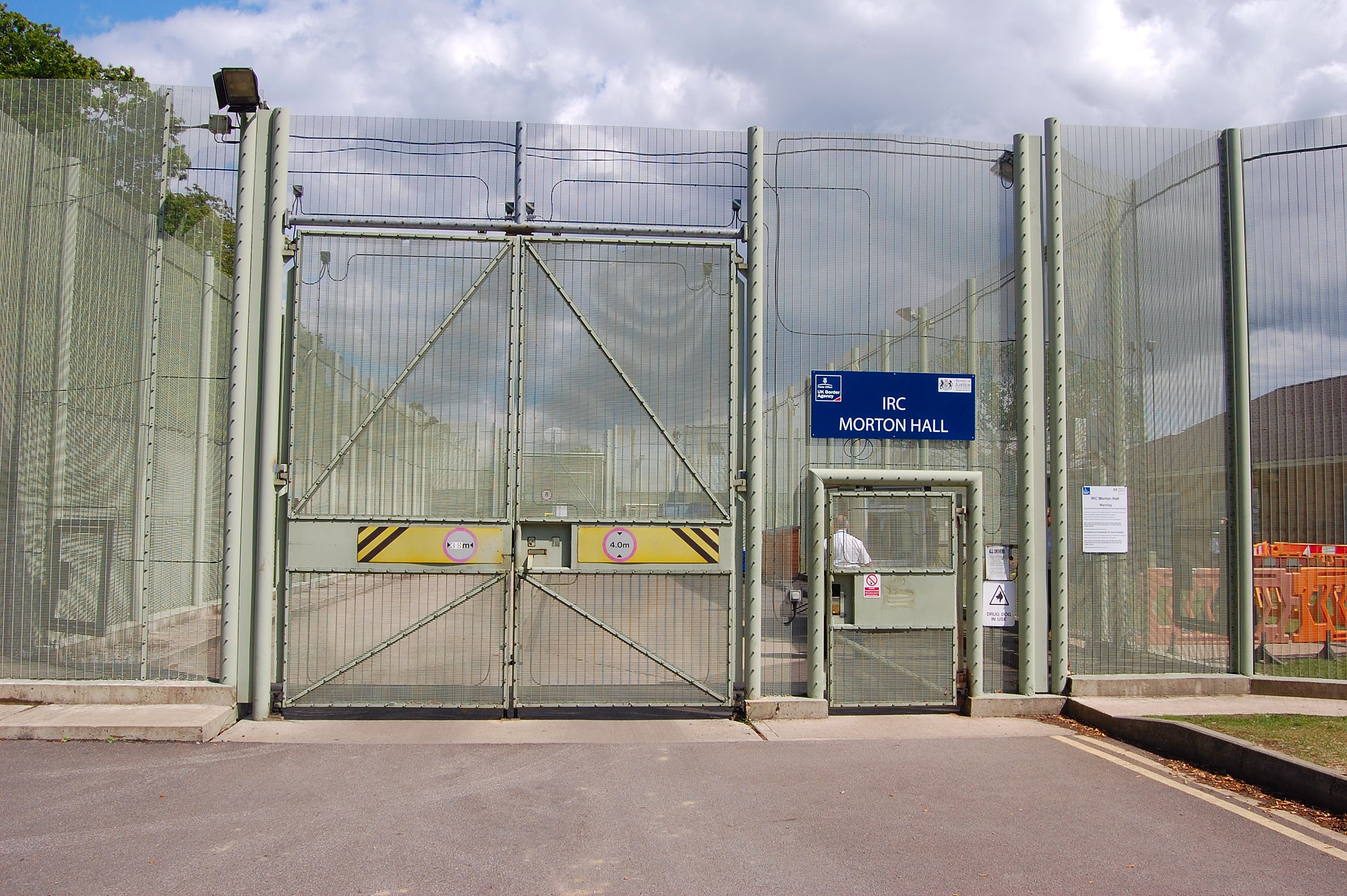 A picture of the outside of a detention centre in the UK