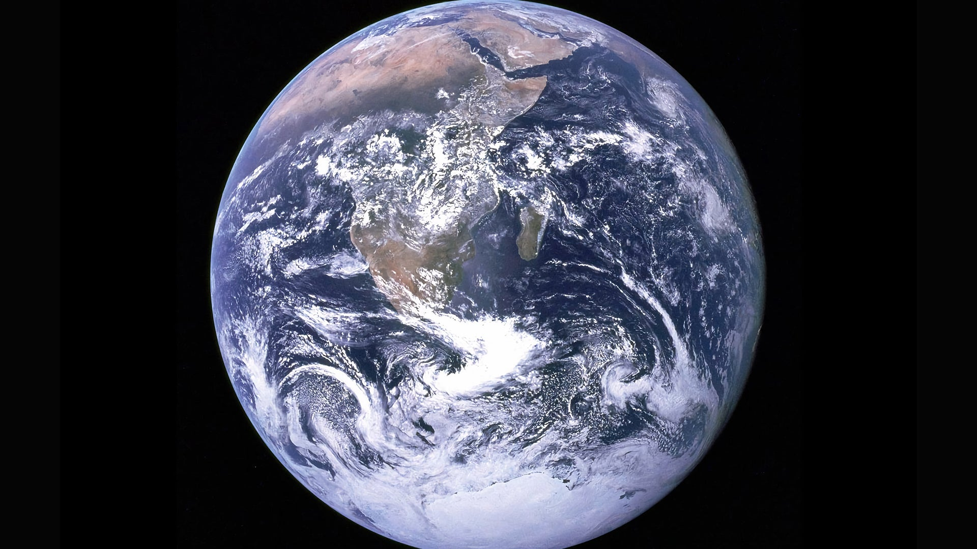 A picture of the Earth, taken from space