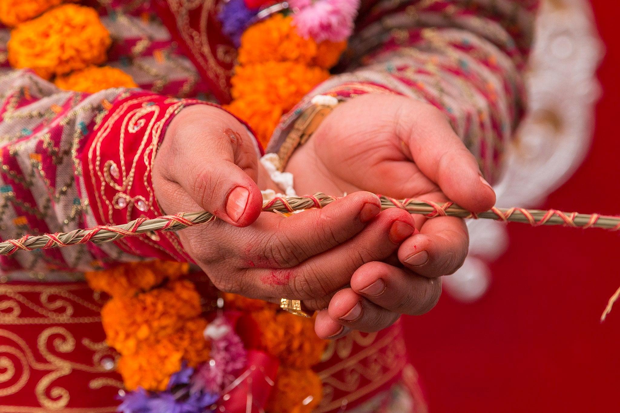 Nepali Hindu wedding detail scene