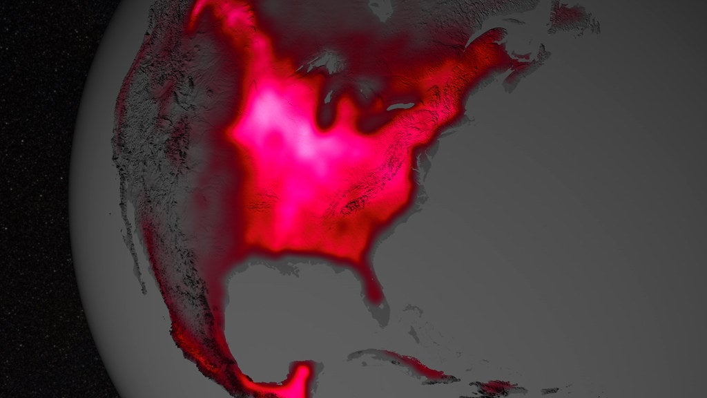 Photosynthetic Activity in US Midwest - Satellite photo