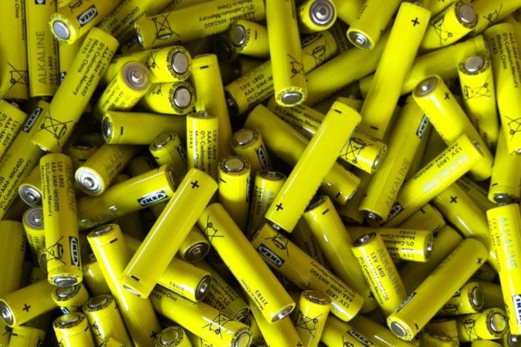 IKEA batteries close-up