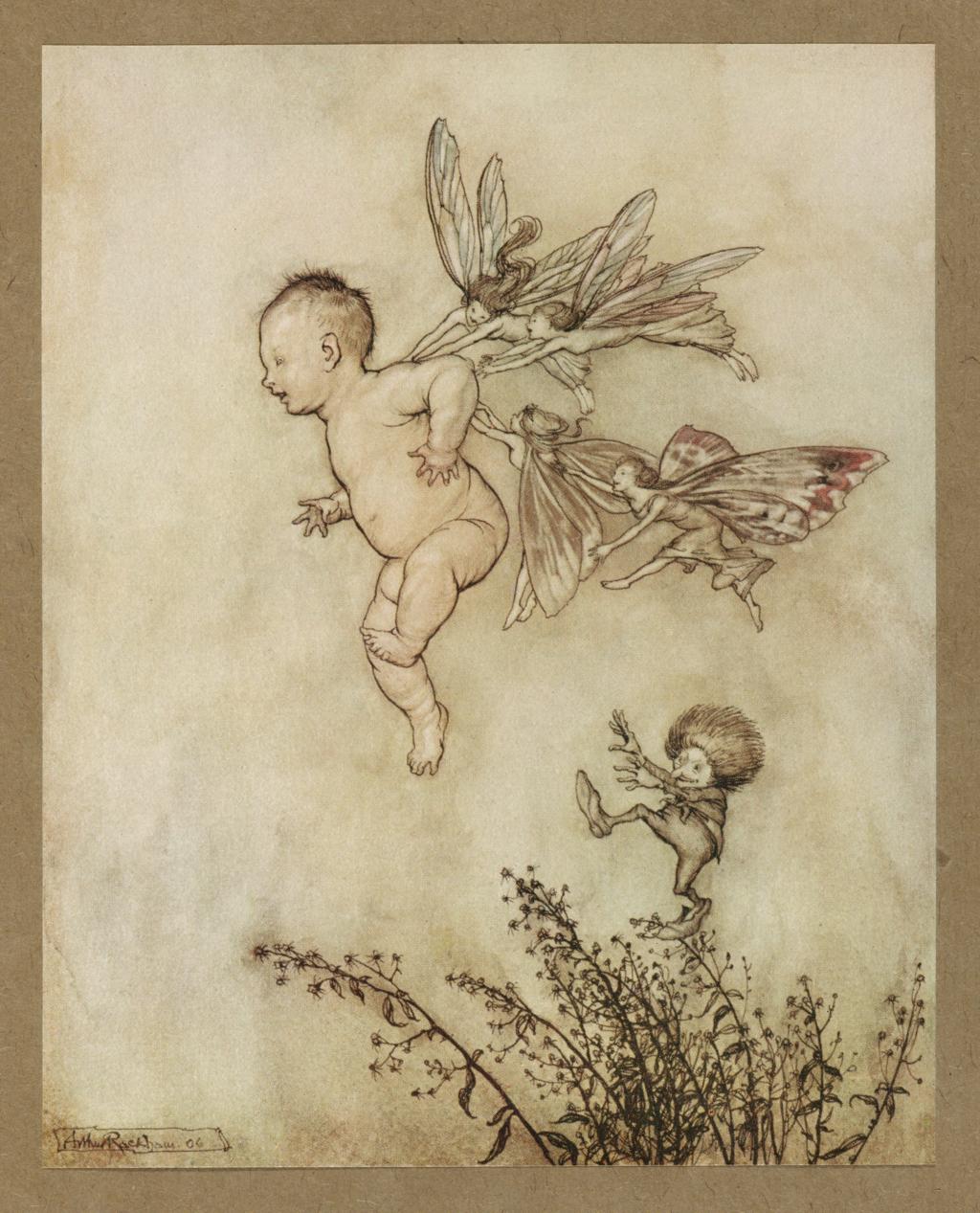 Peter Pan illustration by Arthur Rackham