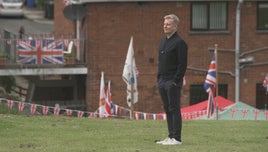 Patrick Kielty on the Belvoir estate south Belfast. From BBC series 100 Years of Union - Copyright: Dragonfly TV