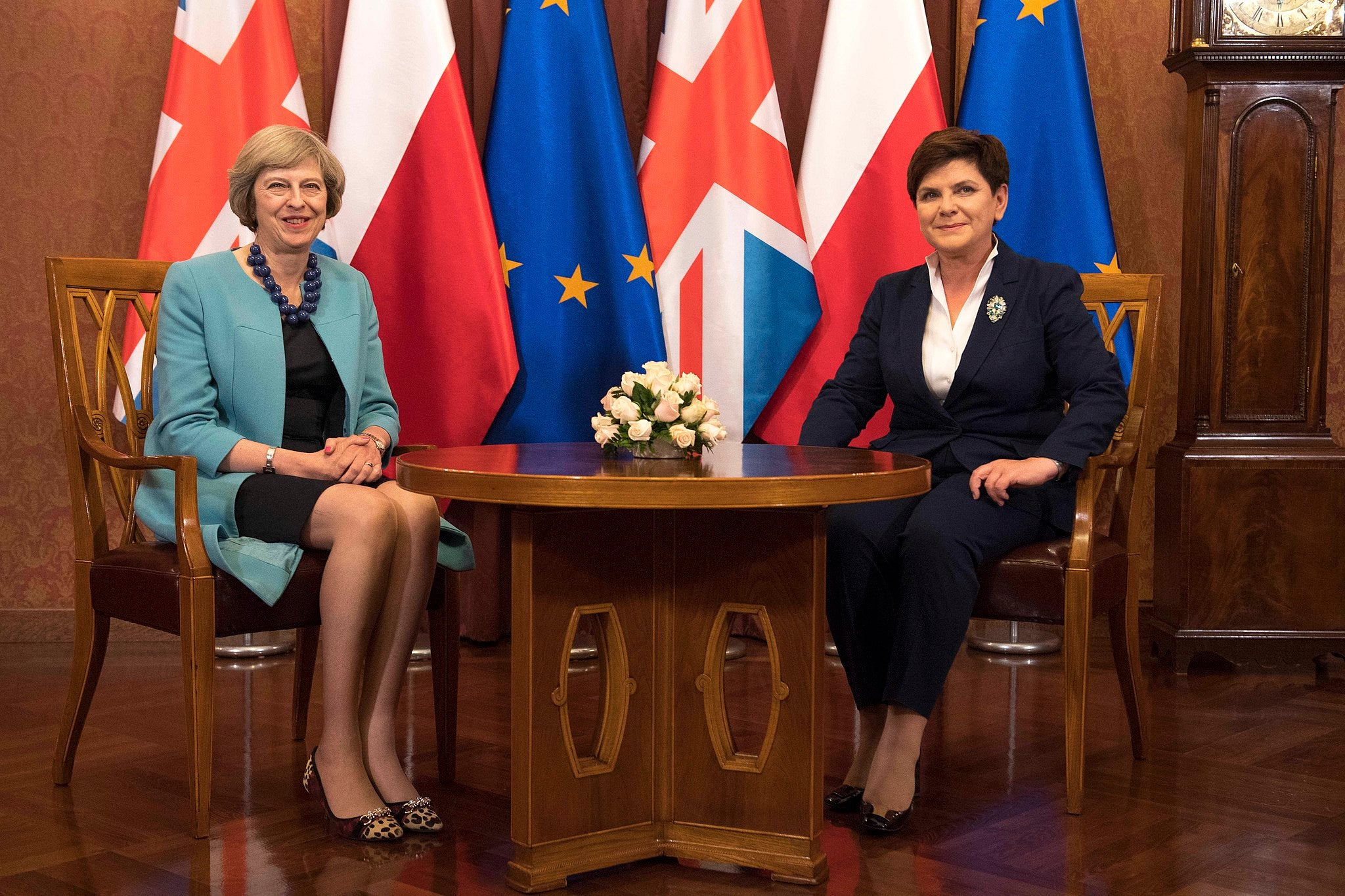 Theresa May in Poland, 2016