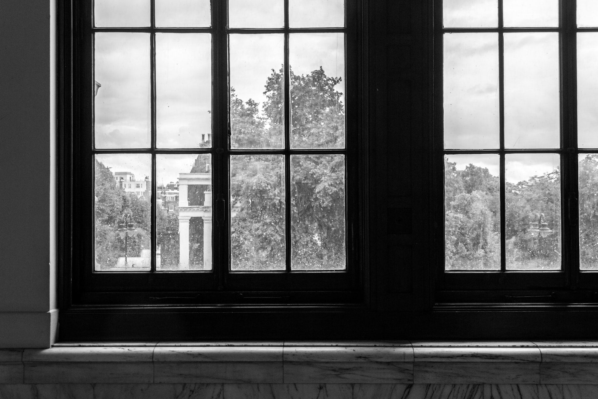 A set of museum windows