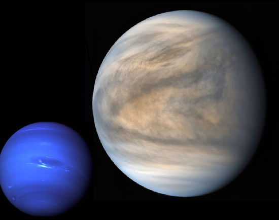 Image of Venus and Neptune together.