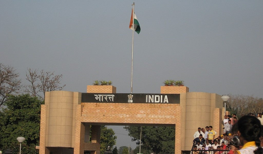 A border gate between India and pakistan