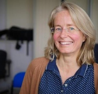 A photograph of Dr Carole Haswell