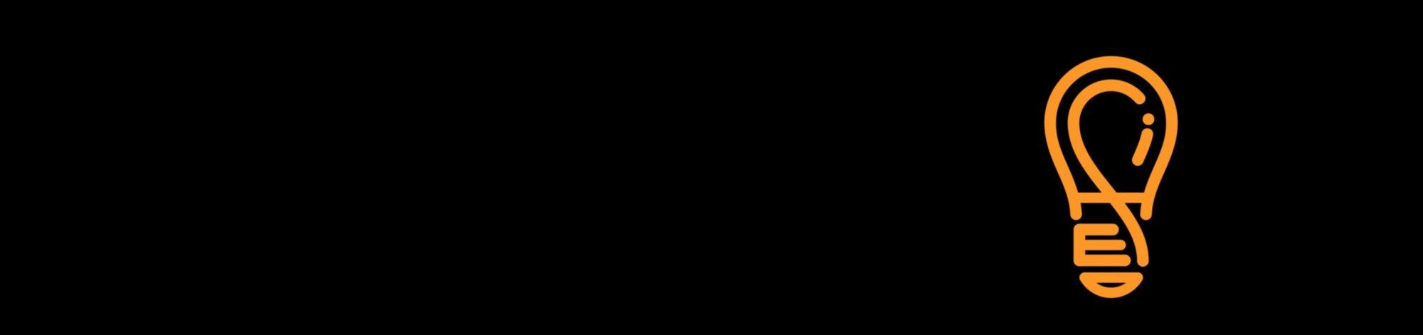 BBC Ideas - a lightbulb graphic on a black background