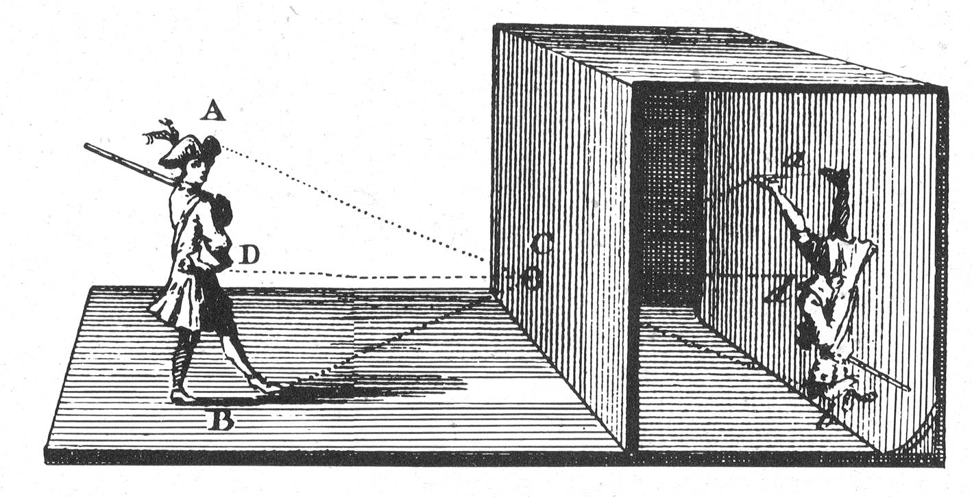 An illustration of a Camera Obscura
