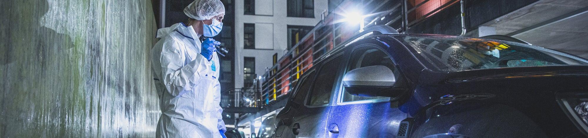 Forensics: The Real CSI, BBC - a CSIO assesses a car