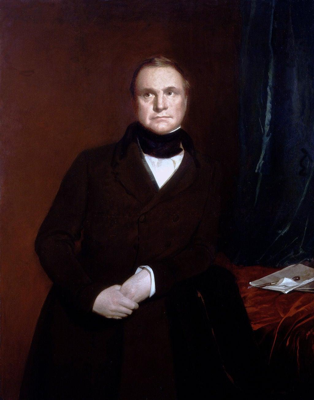 Charles Babbage Painting