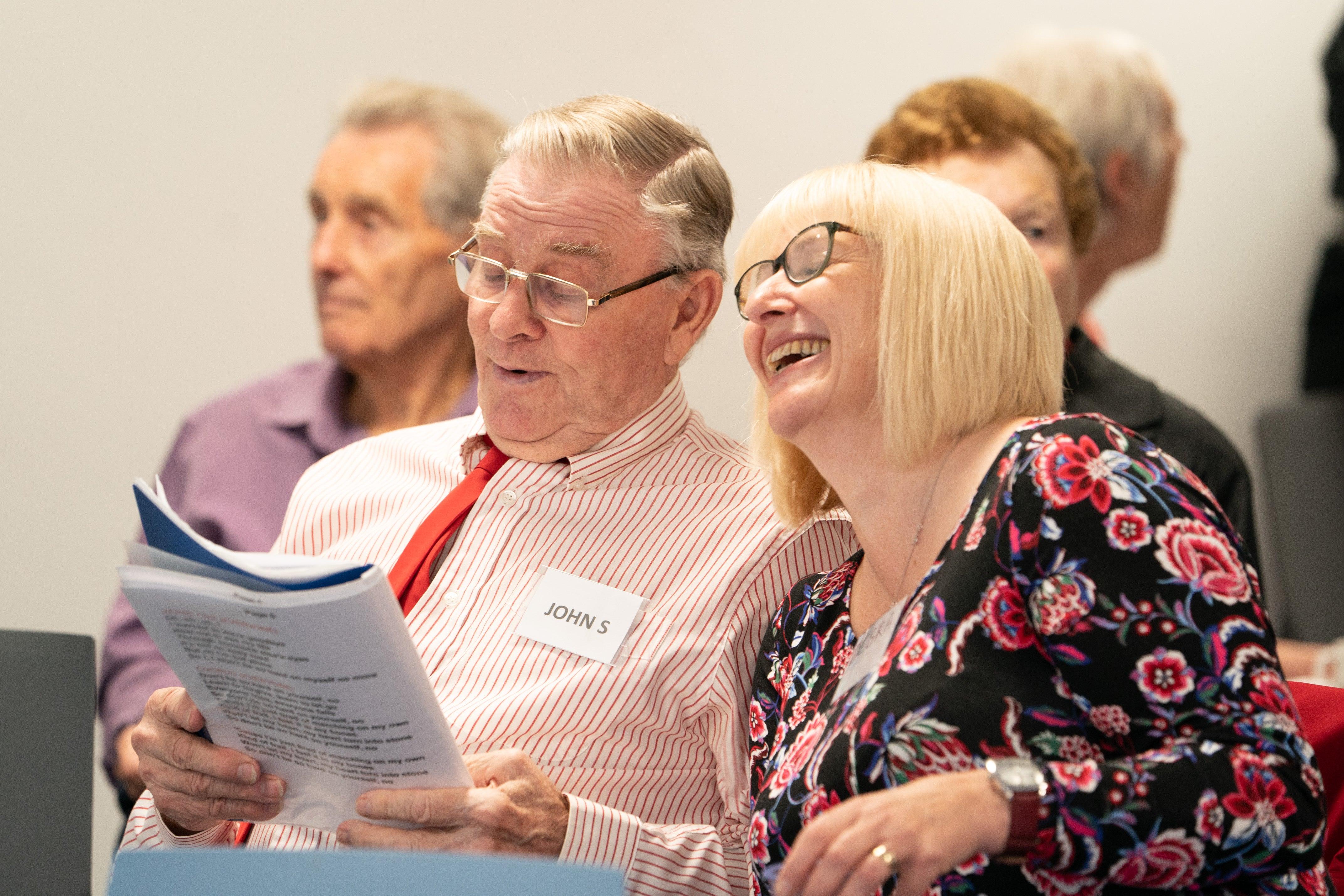 A couple sing - Our Dementia Choir