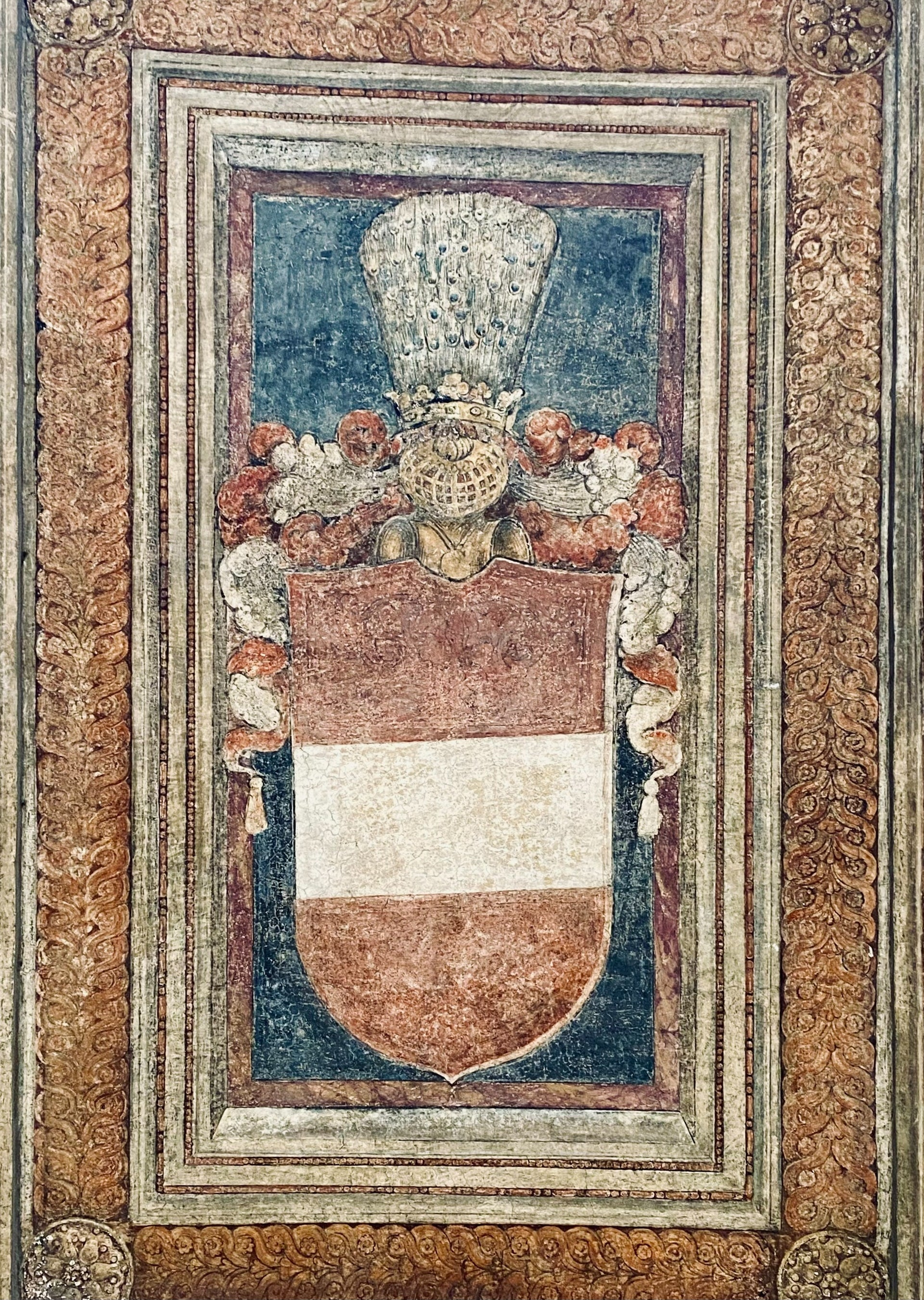 A picture showing show the coat of arms of the Habsburg family.