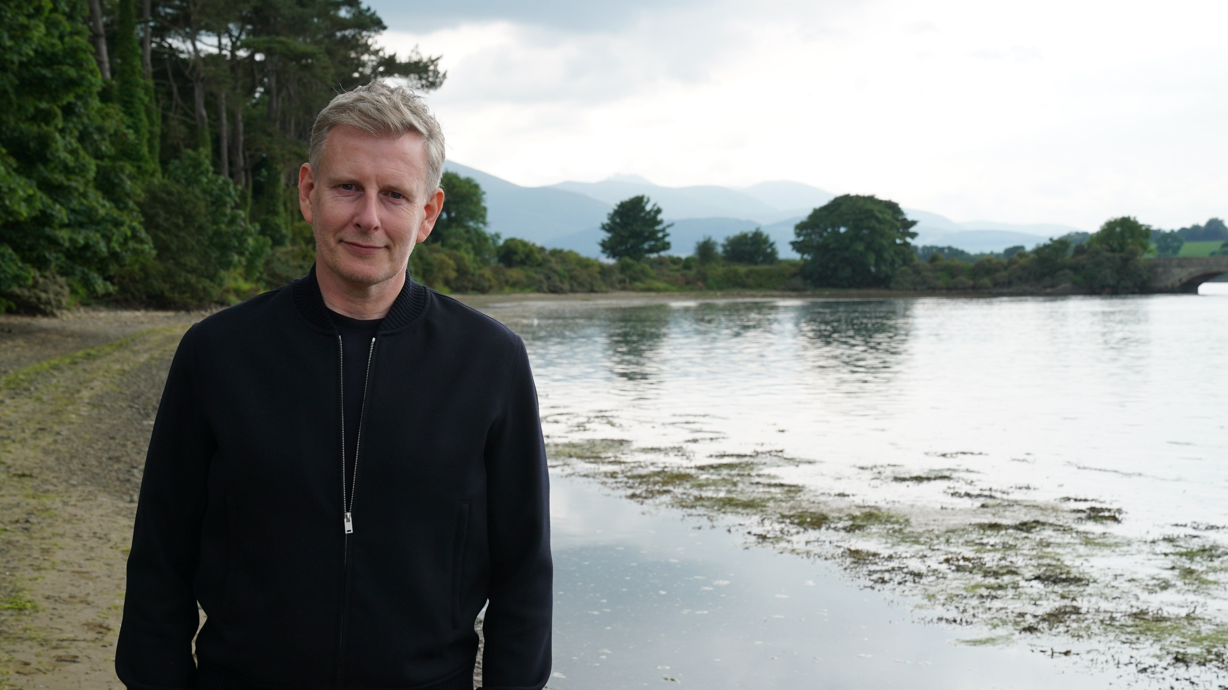 Patrick Kielty at Dundrum, County Down from 100 Years of Union. Copyright: Seamus McCracken - Dragonfly TV