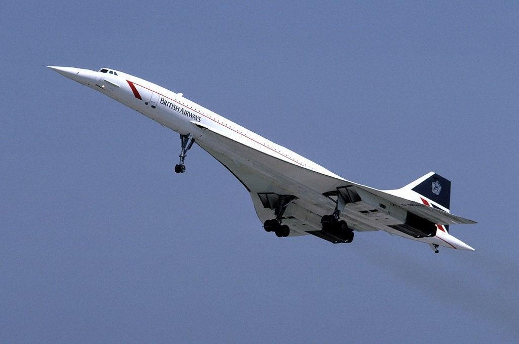 The iconic British Airways Concorde in flight