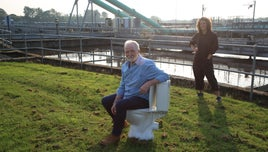 George McGavin and Zoe Laughlin in The Secret Science of Sewage