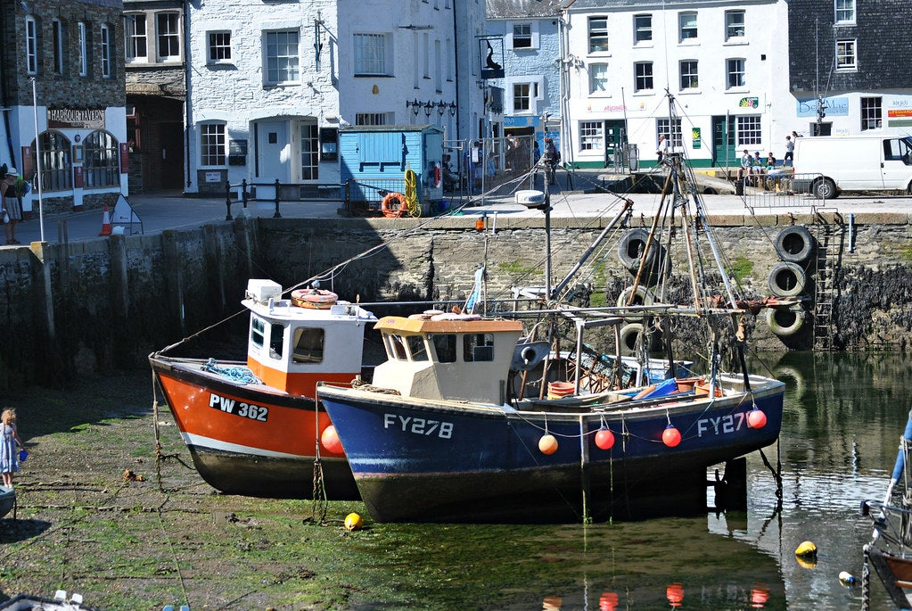 Fishing boats in Mevagissey harbour, UK