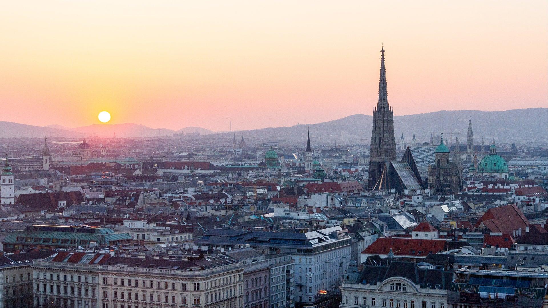 A skyline view of Vienna