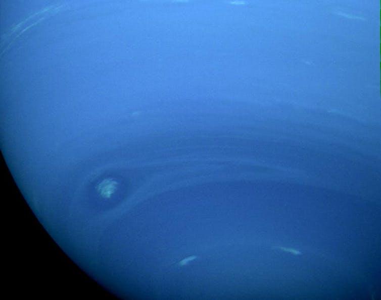 A natural colour view of Neptune by NASA's Voyager 2. NASA/JPL