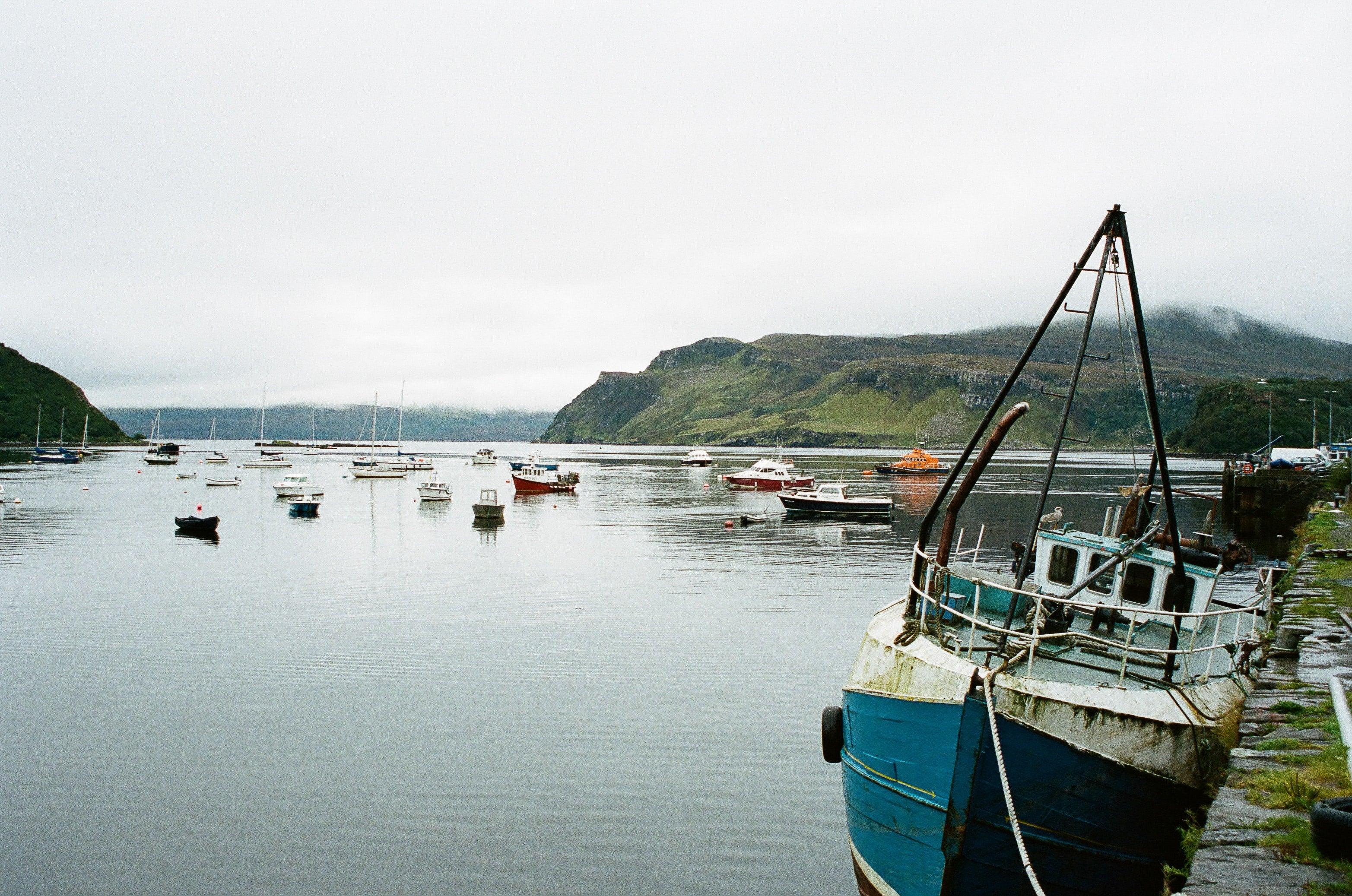 Fishing boat at Portree, Scotland