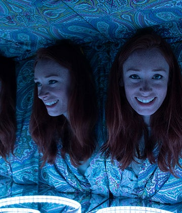 Dr Hannah Fry presenting BBC / OU series Magic Numbers