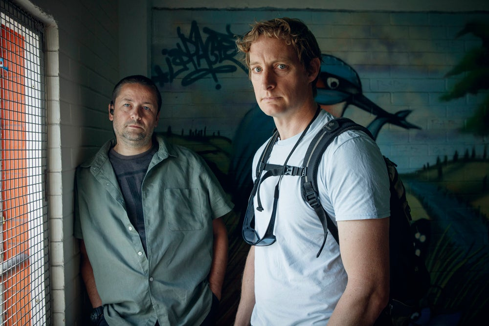Drugsland TV Show - two men stand
