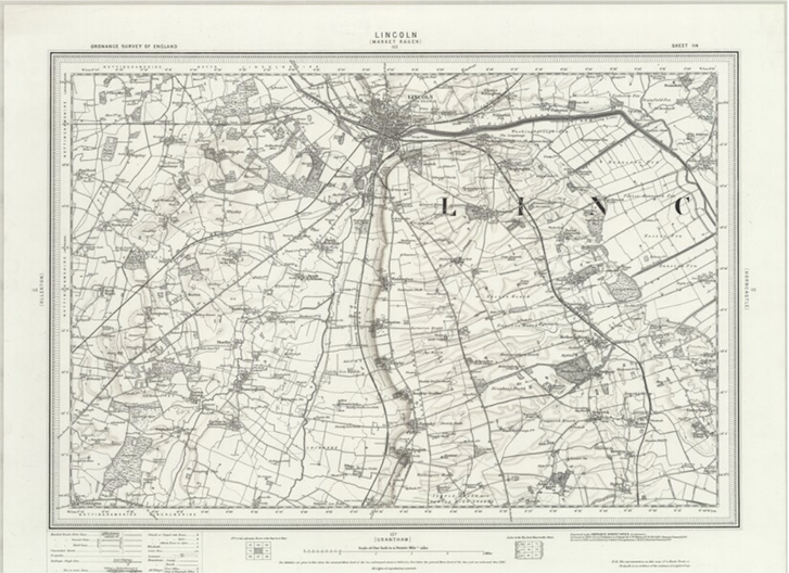 A picture of the map of Lincoln
