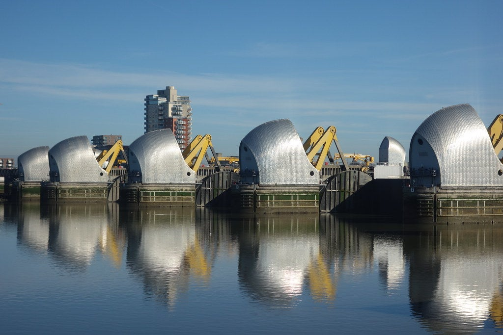 Thames Barrier closed